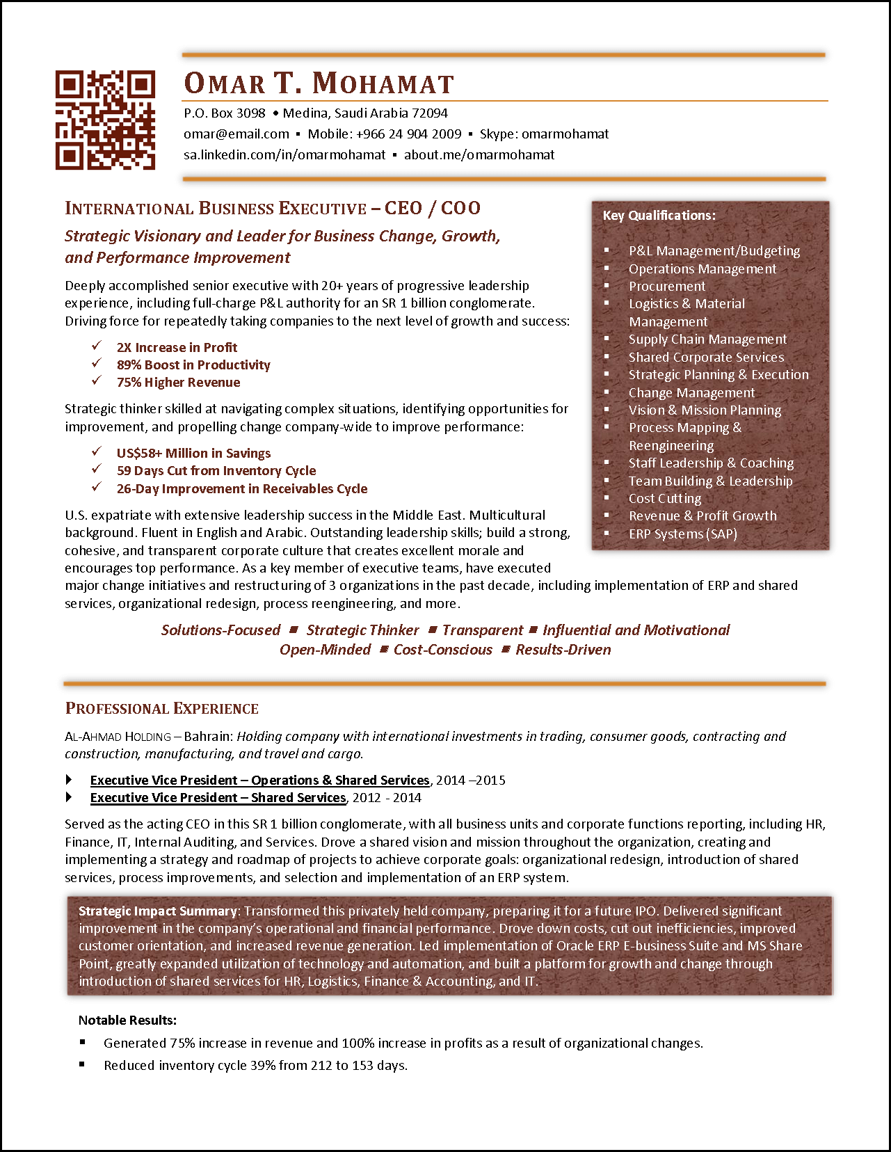 executive resume international page 1 png