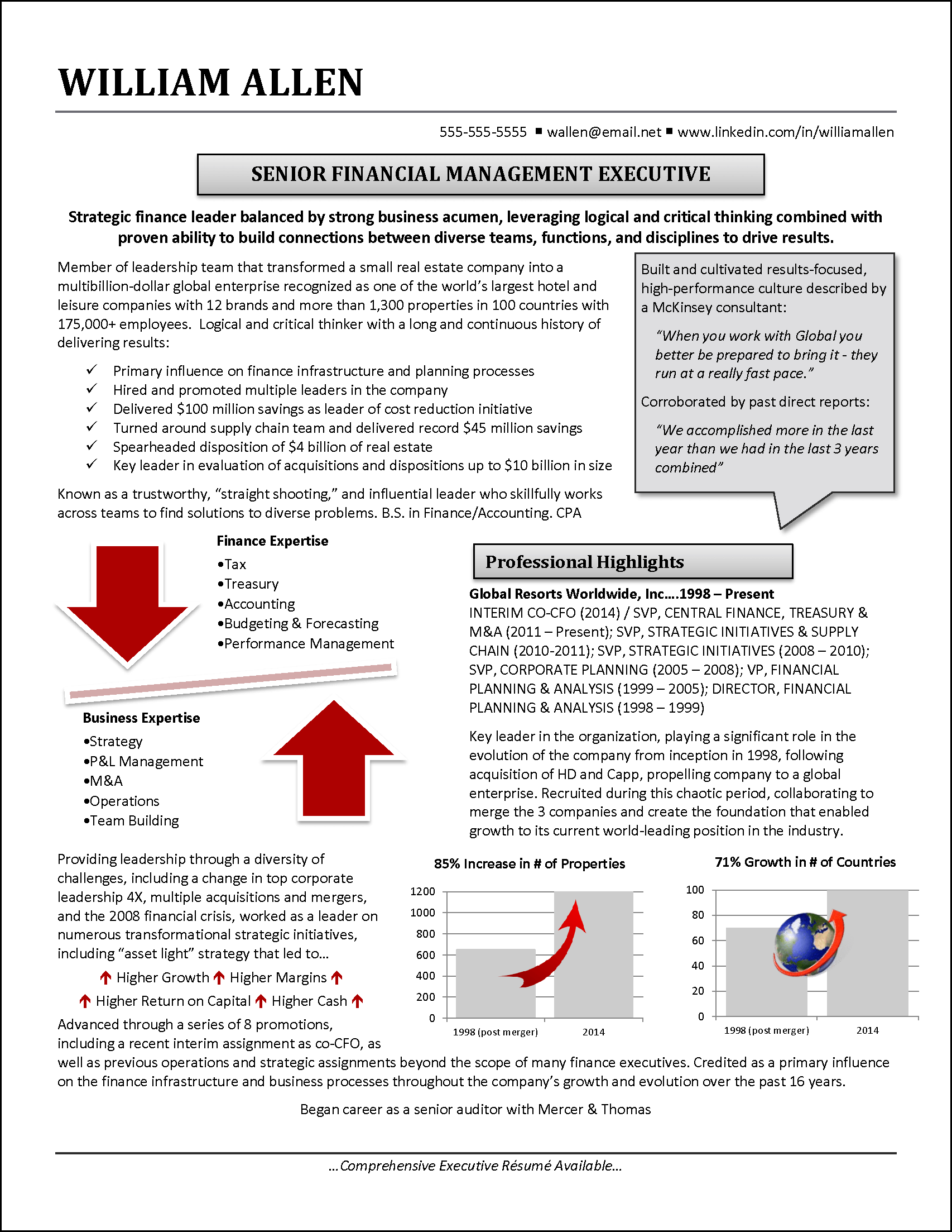 financial mgmt exec png infographic resume example for financial executive