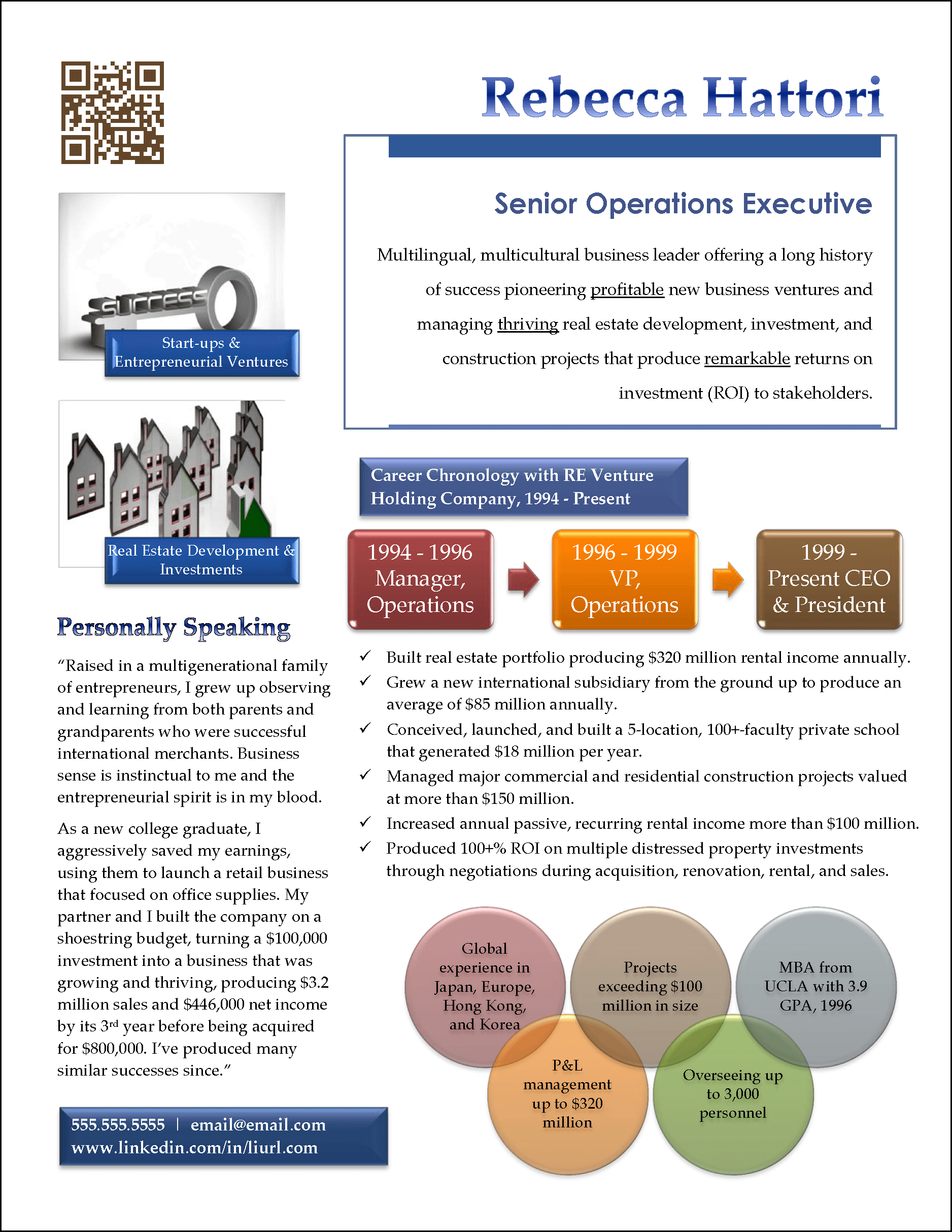 infographic resume example for senior sales manager - Sample Profile Summary For Resume