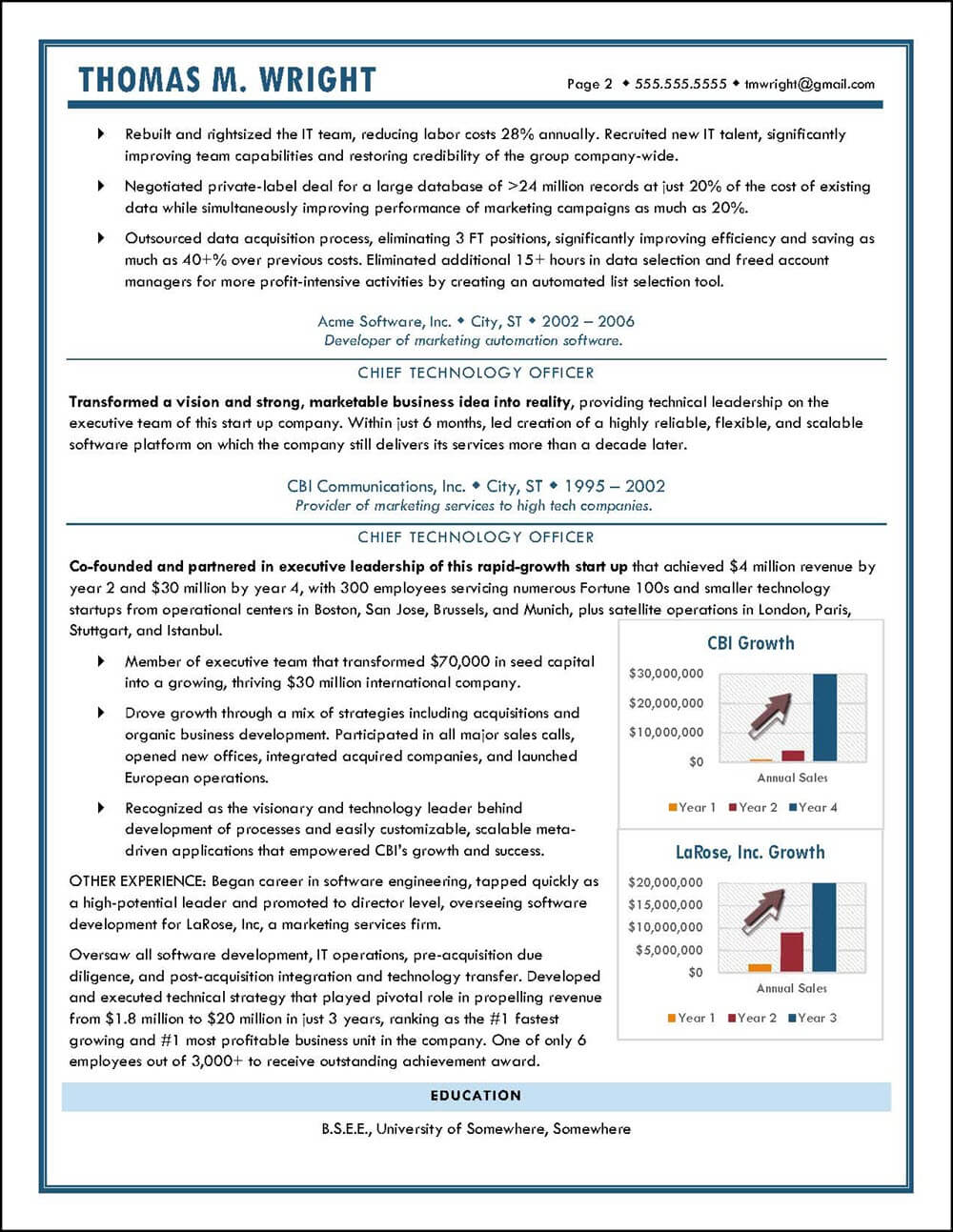 Example CTO Resume pg 2