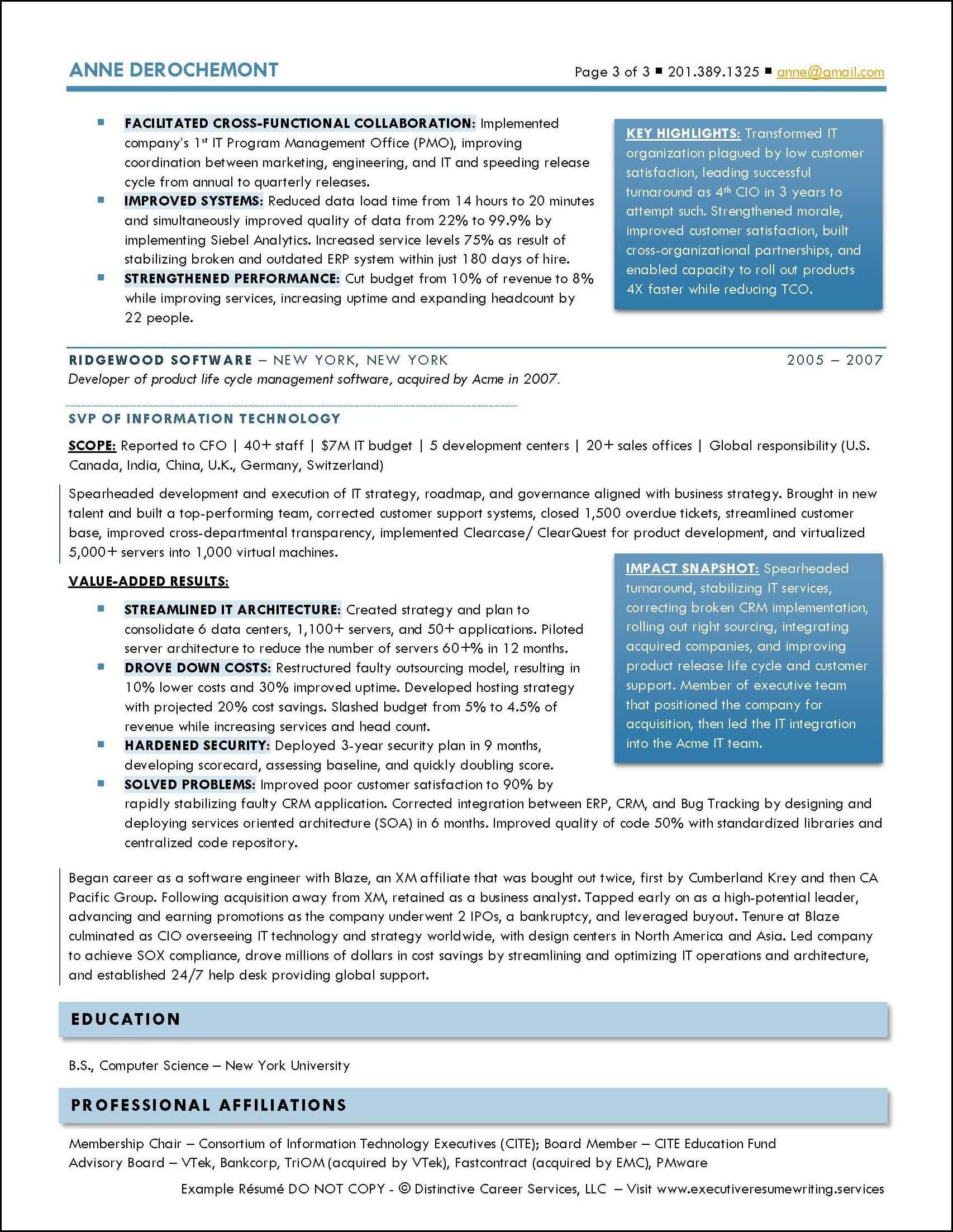 Example Executive Resume - CIO- pg3
