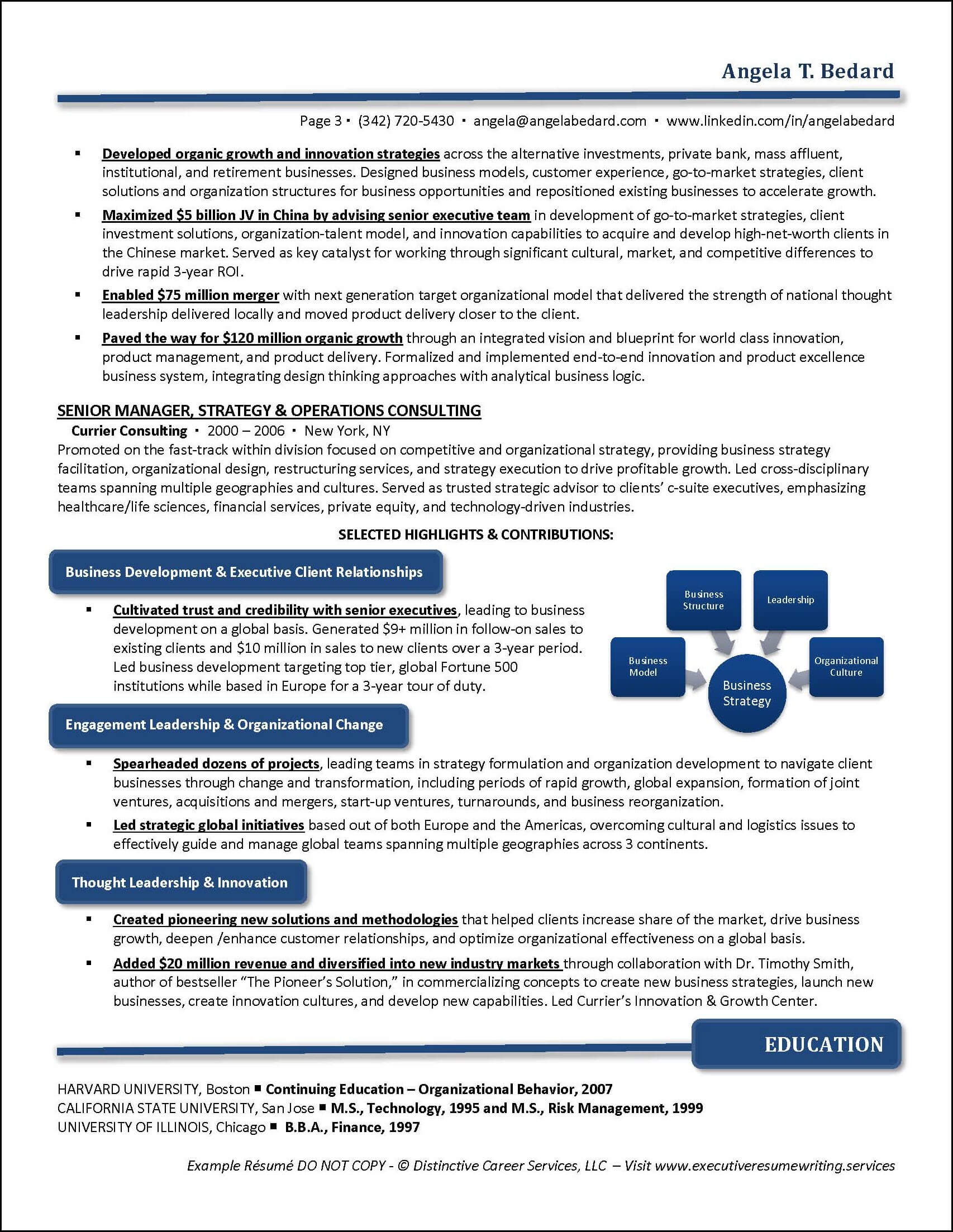 Example Management Consulting Executive Resume pg 3