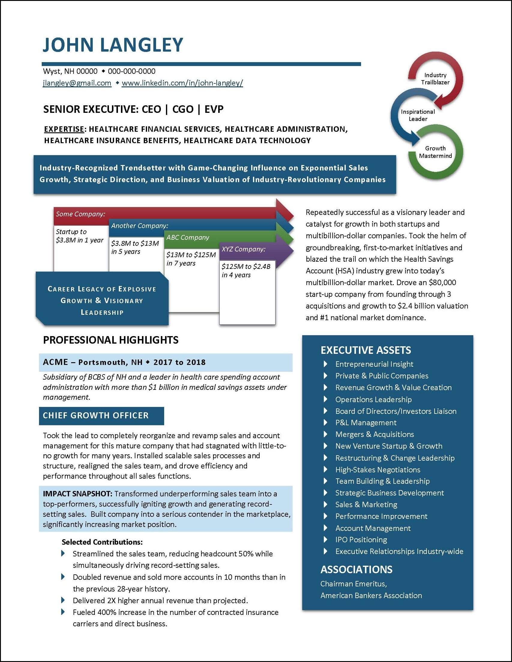 Example Insurance Industry Resume Page 1