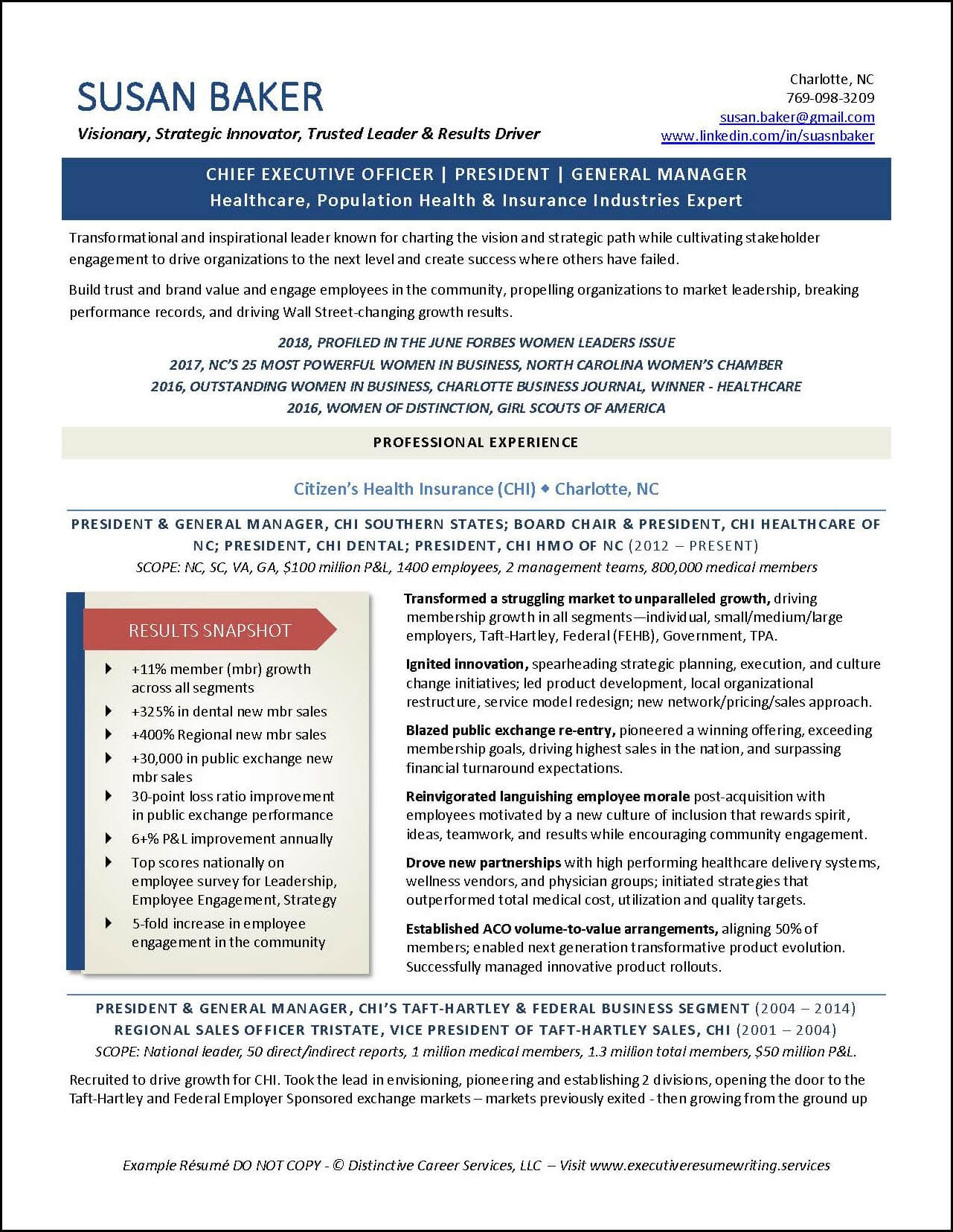 Example CEO-President-GM Executive Resume pg 1