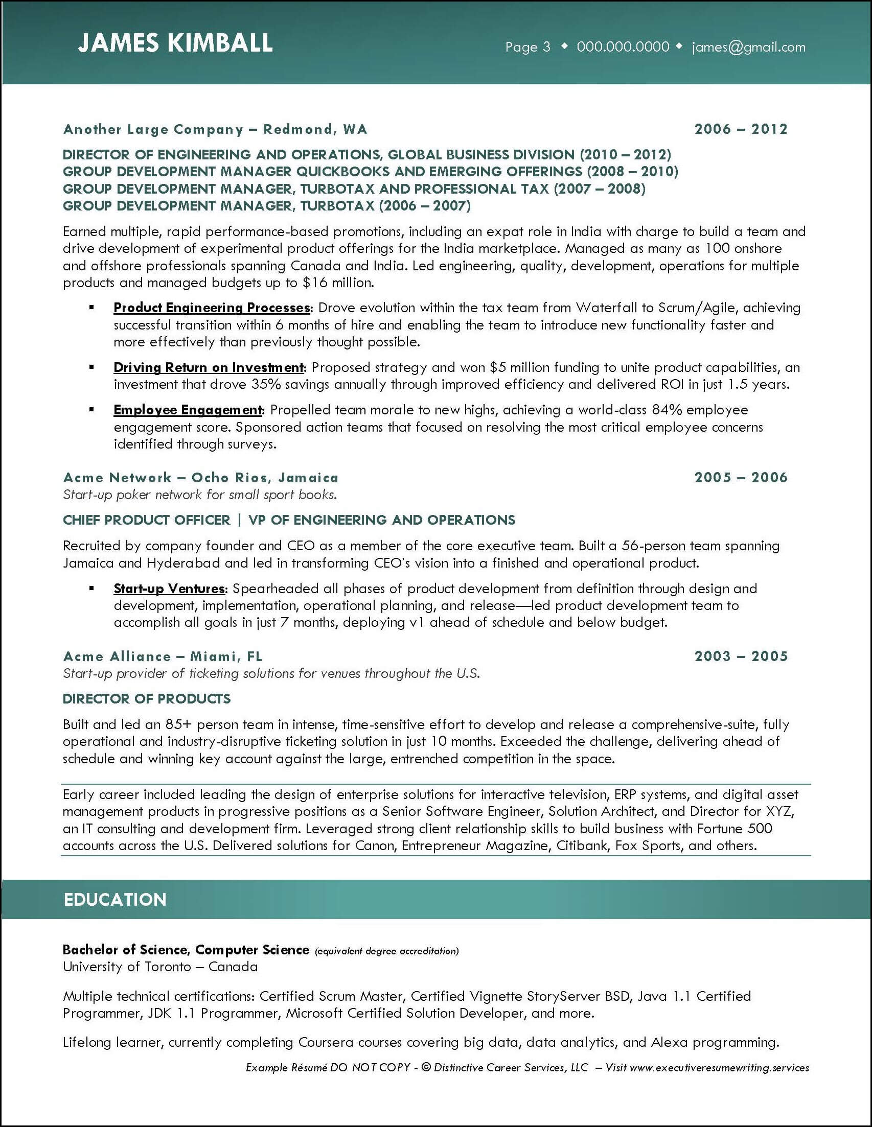 Example Product Engineering Executive Resume pg 3